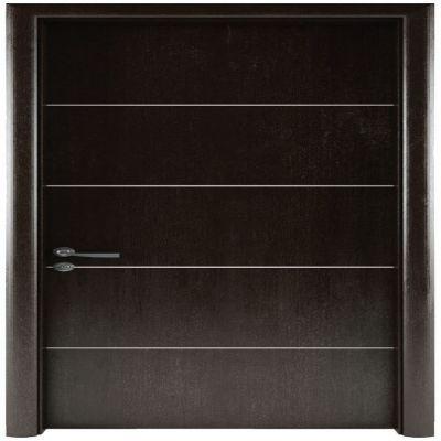 LA204-Cửa gỗ LINEART đen (Vân phẳng chỉ soi)
