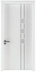 LA401-Cửa gỗ LINEART trắng (Vân phẳng chỉ soi)